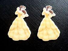 2 x Disney Princess Belle Planar Flatback Resin Flat Back Hair Resins Beauty