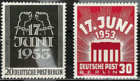 Berlin Michel Nr.110-111 Postfrisch** (1953) Aufstand 17. Juni
