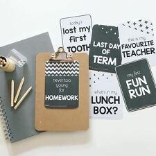 School Milestone Cards - School Years Journal - School Records - School Memories