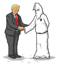 Jim Thiebaud Real Wrench Justice Donald Trump Klansman Skateboard Sticker