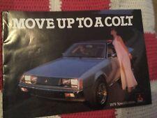 Mitsubishi Colt full range brochure (1979) IN VGC THROUGHOUT