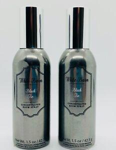 2 Bath & Body Works White Barn BLACK TIE Concentrated Room Spray Fragrance New