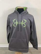 Under Armour Hoodie Mens Size 2XL XXL Gray Storm Fish Hook Loose Fit Sweatshirt