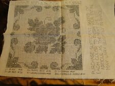 """NEW DOLL HOUSE RUG /""""LILY WALK/"""" Runner Anna G Brazilian Embroidery Stamped Linen"""