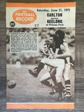 1975 VFL AFL football record Carlton Blues vs Geelong Cats June 21 1975