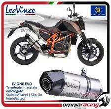 Leovince LV ONE Evo Terminale scarico inox omologato KTM 690 Duke 2012>2015