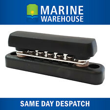 Buss Bar 5 point terminal- 100AMP Rating Marine Grade W/ Black Cover - 5460BCB