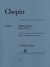 Henle Urtext Chopin Etude in G-flat Major, Op. 10, No. 5 Edition with Fingering