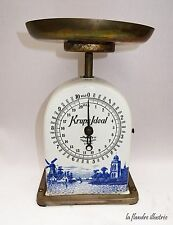 Rare kitchen scales krups ideal ceramic blue-décor delfts-scale