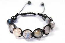 """Beautiful Bracelet Made of Gemstone Agate Facetted Ball Form Ø 4.75 """" mm"""