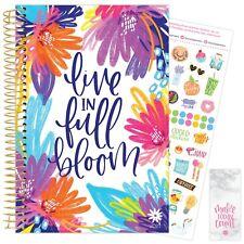 2021 Live in Full Bloom Calendar Year Daily Planner Agenda 12 Month Jan - Dec