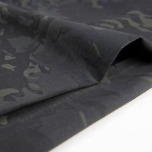 Black Camouflage Multicam Fabric TC Plaids MC BK Cloth DIY Camo Suits1.5M Width