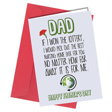 Greetings Card / Comedy / Rude / Funny / Humour / Fathers Day / Dad Daddy #170