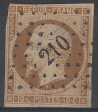 """FRANCE STAMP TIMBRE 9 """" LOUIS-NAPOLEON 10c  BISTRE 1852 """" OBLITERE A VOIR  M749"""