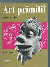 (64924) - ADAM Leonhard; Art primitif. Collection Mondes anciens, 3.