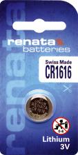 10 x Renata CR1616 Batteries, 3V Lithium, 1616