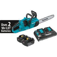Makita 18V X2 (36V) LXT Cordless Brushless Chain Saw Kit w/ 2 Li-Ion Batteries