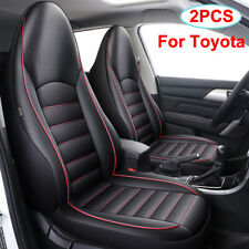 Front Bucket Car Seat Cover PU Leather Fit for Toyota RAV4 4runner CHR Tacoma