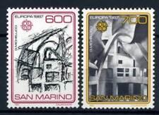 San Marino 1987 Sass. 1195-1196 Nuovo ** 100% Europa Unita Architettura moderna