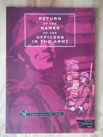 Return of the Names of the Officers in the Army - War Office 1818 *Reprint*
