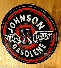 Johnson gasolene old school sticker usa autocollant muscle car skull rockabilly v8