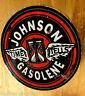 JOHNSON GASOLENE Oldschool Sticker USA Aufkleber Muscle Car Skull Rockabilly V8