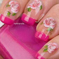 Uñas Nail Art transferencias de agua calcomanías Wraps Rosas Rojas-yd103 impresionante