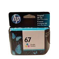 NEW Genuine HP 67 Tri-Color 3YM55AN Printer Ink Cartridge OEM Exp June 2022