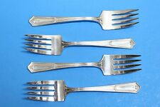 4 R.C. Co. Rogers Cutlery Bouquet - Vendome Silverplate Flatware Salad Forks