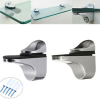 Adjustable Metal Wall Mount Floating Bracket Holder Support Glass Wood Shelves