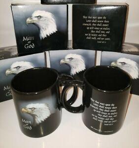 Man of God Coffee Mug Isaiah 40:31 Scripture Bible Verse & Eagle NEW in Box NIB