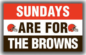 Cleveland Browns Team Sundays Are For The Browns Flag 90x150cm 3x5ft Banner
