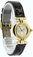 Дамы CARTIER Must De Cartier позолоченное серебро золото серебро круглые часы