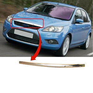 Fit Ford Focus 2008-2011 Bonnet Moulding Chromed Insurance Approved High Quality