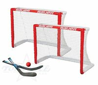 Mini Hockey Tor 2er Set Bauer Inlinehockey Rollhockey Knee Hockey