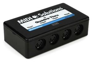 MIDI Solutions MultiVoltage Quadra Thru 1-in 4-out MIDI Through Box