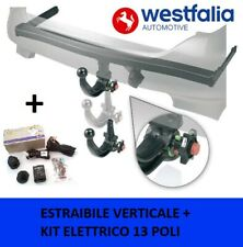 Gancio di traino estraibile Fiat Panda 169 4x4 2003-2012 + kit elettrico 13 poli