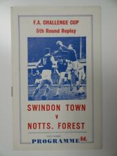More details for swindon t v nottingham for   1966/1967   fa cup r5 replay   14 mar 1967   pirate