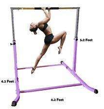 5'Ft Horizontal Bar Athletic Teens Adjustable Kip Gymnastics Junior Bars PURPLE