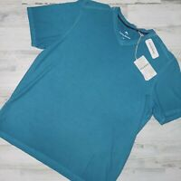 Tommy Bahama Men's Sz L Cirrus Coast V Neck Short Sleeve Shirt Blue MSRP $74.5