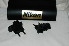 Genuine Nikon 2-Pin EU EURO PLUG Adapter for Charger MH-24 (For EN-EL14 Battery)