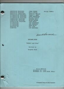 """1998 Script for Chicago Hope - Episode """"McNeil and Pray"""" - Signed by Mark Harmon"""