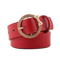 Women Bow Belt Girls Dress Waist Belts  Square Buckle Solid Color Fashion Belt I