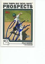 CHAD GAUDIN Autographed Signed 2004 Topps Traded card Tampa Bay Devil Rays COA