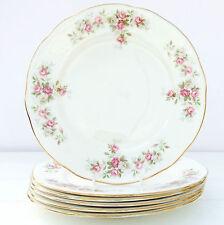 Vintage Duchess June Bouquet Bone China Set 6 Salad Plates Pink Roses