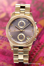 MARC BY MARC JACOBS MBM3298 HENRY Gold Tone Brown Beige Dial Women's Watch