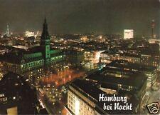 AK, Hamburg, Innenstadt, Nachtansicht, um 1983
