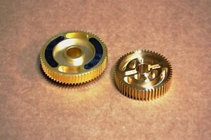 FOR Corvette C4 84-87 CNC Machined Brass Headlight Gears Replacement Kit