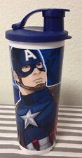 Tupperware Marvel Avengers Captain America Kids Tumbler 16oz New