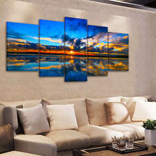 Cook Strait Sunset HD Canvas Print Unframed Canvas Picture Wall Art Painting